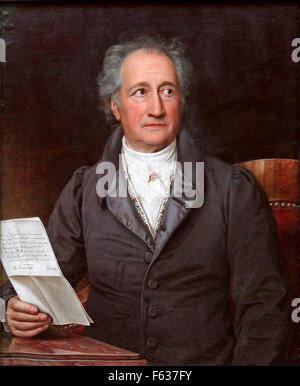 Johann Wolfgang von Goethe, German writer and statesman. - Stock Photo