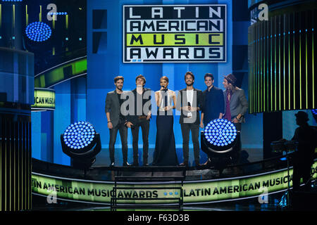 Celebrities perform onstage at the Latin American Music Awards at the Dolby Theatre  Featuring: Guests Where: Los - Stock Photo