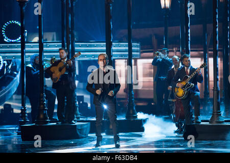Celebrities perform onstage at the Latin American Music Awards at the Dolby Theatre  Featuring: Fonseca Where: Los - Stock Photo
