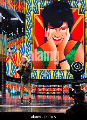 Celebrities perform onstage at the Latin American Music Awards at the Dolby Theatre  Featuring: Yuri Where: Los - Stock Photo