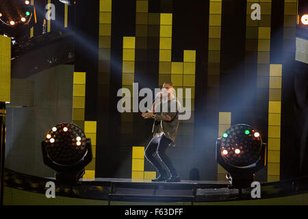 Celebrities perform onstage at the Latin American Music Awards at the Dolby Theatre  Featuring: Maluma Where: Los - Stock Photo