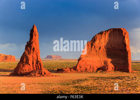 Dancing Rocks near Rock Point in the Navajo reservation in northern Arizona, USA - Stock Photo