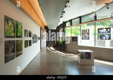 Exhibition at the John Hope Gateway Visitor Centre at the Royal Botanic Gardens. Edinburgh. - Stock Photo