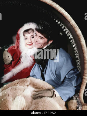 WAR AND PEACE 1956 Paramount Pictures film with Audrey Hepburn as Natasha and Henry Fonda as Pierre - Stock Photo