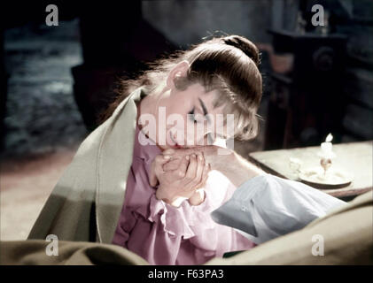 WAR AND PEACE 1956 Paramount Pictures film with Audrey Hepburn - Stock Photo