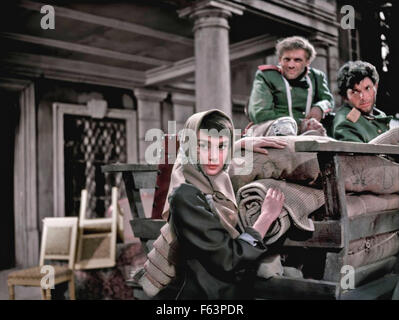 WAR AND PEACE 1956 Paramount Pictures film with Audrey Hepburn. - Stock Photo