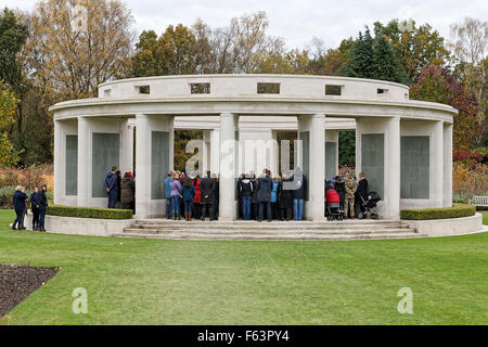 Brookwood Military Cemetery Armistice Day - a Remembrance Ceremony held in the 1939 - 1945 Brookwood Memorial - Stock Photo