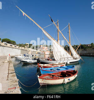 Boats in the harbour of Tricase, Lecce Province, Puglia, Italy - Stock Photo