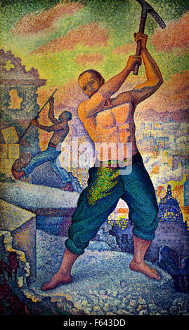 Le démolisseur - the demolisher 1897 - 1899 Paul Signac 1863 - 1935 France French - Stock Photo
