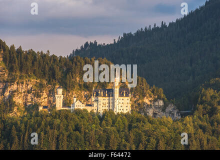 Neuschwanstein castle, Bavaria, Germany - Stock Photo