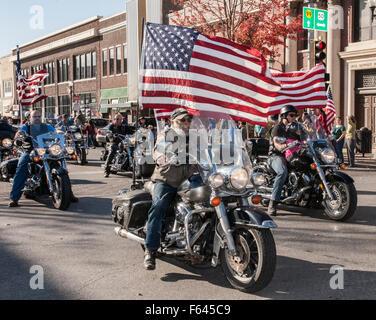 Emporia, Kansas, USA. 11th November, 2015. Veterans Day Parade in Emporia, Kansas the town that originally started - Stock Photo