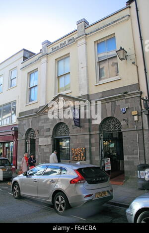 Town Hall Market, High Street, Tenby, Pembrokeshire, Dyfed, Wales, Great Britain, United Kingdom UK, Europe - Stock Photo
