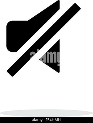 Turn off sound simple icon on white background. - Stock Photo