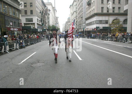 New York, USA. 11th Nov, 2015. New York City Veteran's Day Parade 2015. The Annual parade is the largest Veteran's - Stock Photo