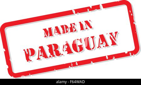 Red rubber stamp vector of Made In Paraguay - Stock Photo