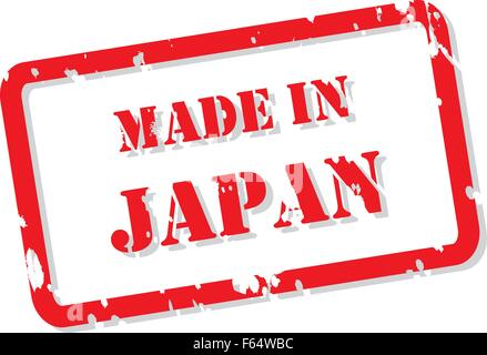 Red rubber stamp vector of Made In Japan - Stock Photo