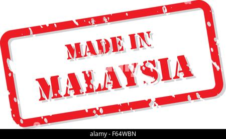 Red rubber stamp vector of Made In Malaysia - Stock Photo