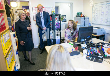 30/9/15 Her Royal Highness the Duchess of Gloucester visits The Children's Society's Manchester office at The Zion - Stock Photo