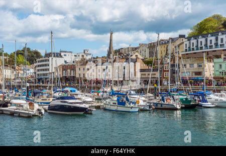 View over the Harbor and Marina of Torquay, Torbay, England, UK | Aussicht ueber den Hafen und Marina von Torquay - Stock Photo