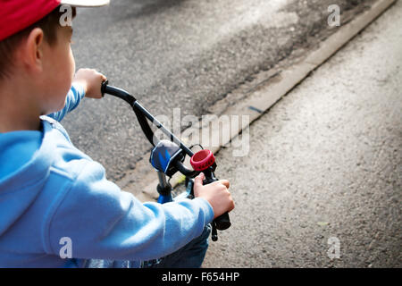 boy on a bicycle - Stock Photo