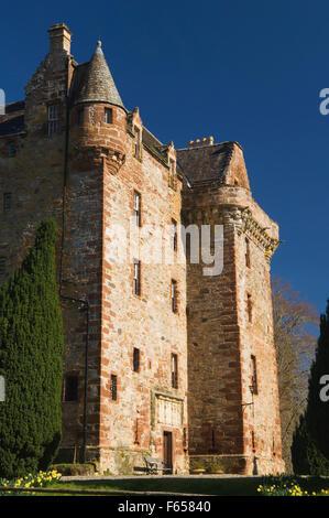 Castle Leod in spring, near Strathpeffer, Ross-shire, Scotland.