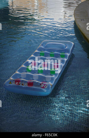 lilo inflatable air bed mattress in a swimming pool stock photo 54346018 alamy