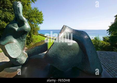 Sculpture in park of the Louisiana Museum of Modern Art, Oresund, Humlebaek, Denmark - Stock Photo