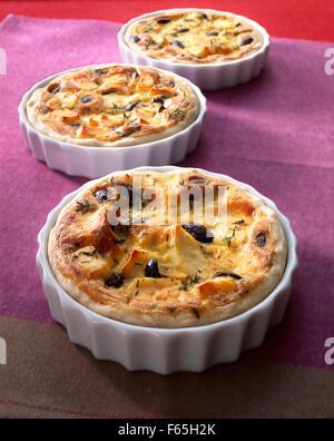 Fromage frais savoury tart - Stock Photo