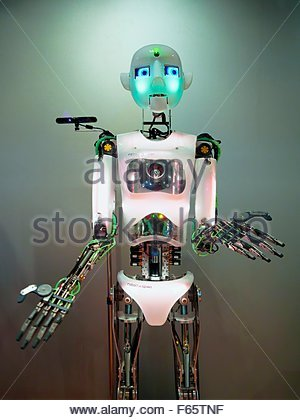 A robot at the Hans Nixdorf Forum, Paderborn - Stock Photo
