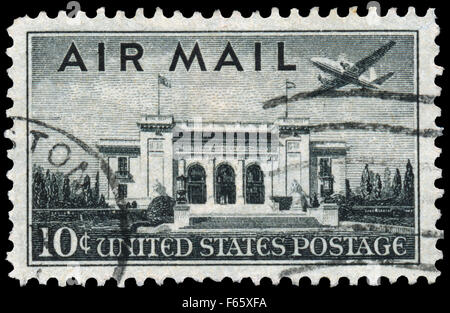 USA - CIRCA 1947: Postage stamp printed in The United States of America shows the Pan American Union Building. Washington, - Stock Photo