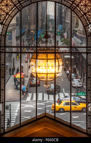 5th Avenue NYC. From the New York Public Library - Stock Photo