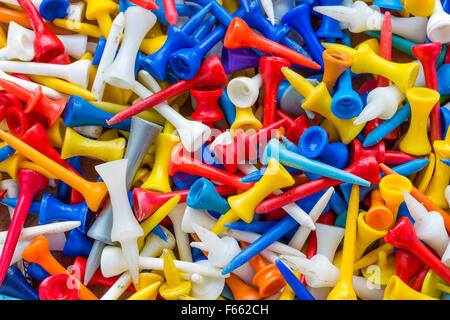 Old golf tees - Stock Photo