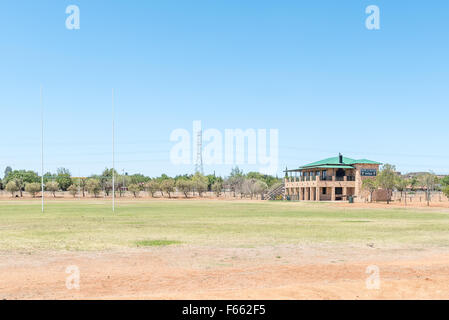 BLOEMFONTEIN, SOUTH AFRICA, NOVEMBER 12, 2015: Sport center of the Jim Fouche Secondary School in Gardenia Park, - Stock Photo