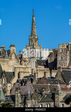 The Tron Kirk is a former principal parish church in Edinburgh, Scotland. It is a well-known landmark on the Royal - Stock Photo