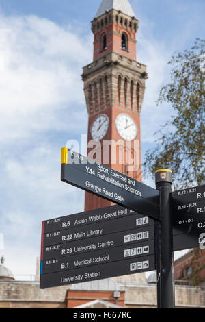Joseph Chamberlain Memorial Clock Tower, University of Birmingham, England, UK - Stock Photo