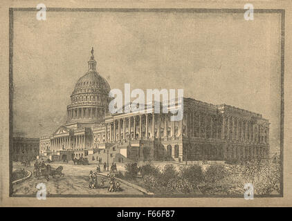 Washington Capitol building circa 1820's - Stock Photo