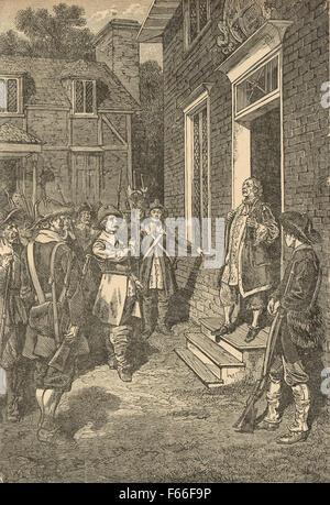 Bacon's rebellion Virginia colony 1676 - Stock Photo