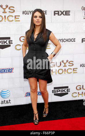 Mila Kunis at the Spike TV's 6th Annual 'Guys Choice' Awards held at the Sony Studios in Los Angeles, USA on June - Stock Photo