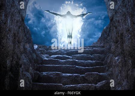Gates to heaven light - Stock Photo