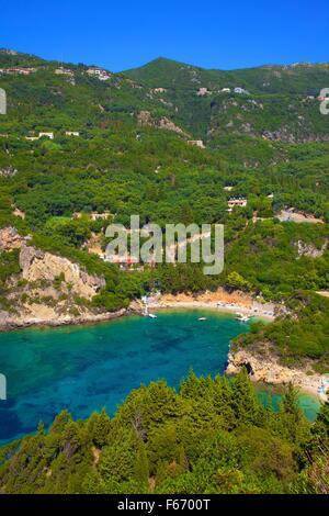 Palaiokastritsa, Corfu, The Ionian Islands, Greek Islands, Greece, Europe - Stock Photo
