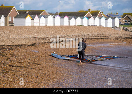 Goring By Sea, West Sussex UK, Friday 13th November 2015. UK weather. Friday the 13th has bought nothing but good - Stock Photo