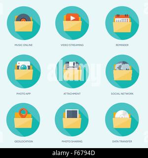Vector Illustration. Flat Emailing Background. Email. Global Stock ...