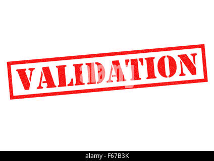 VALIDATION red Rubber Stamp over a white background. - Stock Photo