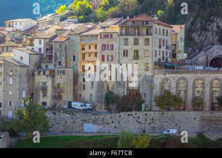 Old town of Sisteron, Sisteron, Provence, Region Provence-Alpes-Côte d'Azur, France - Stock Photo