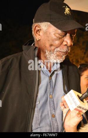 The 23rd Annual Hamptons International Film Festival - Arrivals  Featuring: Morgan Freeman Where: East Hampton, - Stock Photo