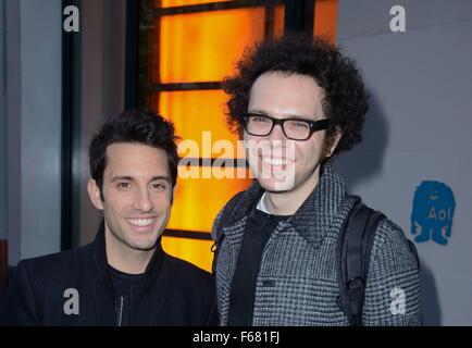 New York, NY, USA. 13th Nov, 2015. A Great Big World, Chad King, Ian Axel out and about for Celebrity Candids - - Stock Photo