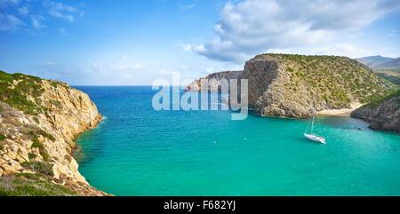 Cala Domestica Bay, Buggerru, Sardinia Island, Italy - Stock Photo