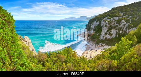 Sardinia Island - Cala Fuili Beach, Gennargentu and Orosei Gulf National Park, Italy - Stock Photo