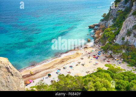 Sardini Island - Cala Fuili Beach, Gennargentu and Orosei Gulf National Park, Italy - Stock Photo