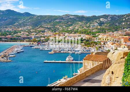Calvi Marina, Balagne, Corsica Island, France - Stock Photo